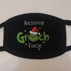 The grinch dr suess resting grinch face mask. New